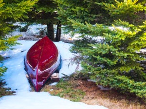 When the snow melts enough to reveal the canoe, it's time to prepare for more wildwood jaunts.