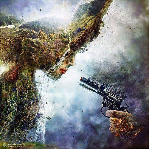 earth by the gun
